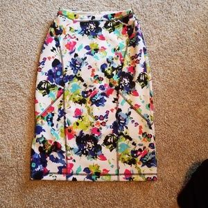 Nicole Miller floral pencil skirt stretchy